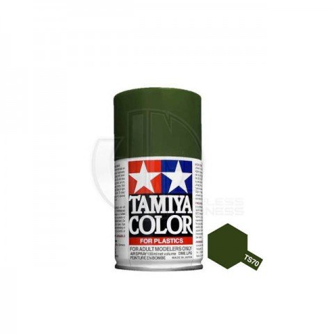 Tamiya TS-70 Olive Drab (JGSDF) 100ml Acrylic Spray Paint - TS-85070