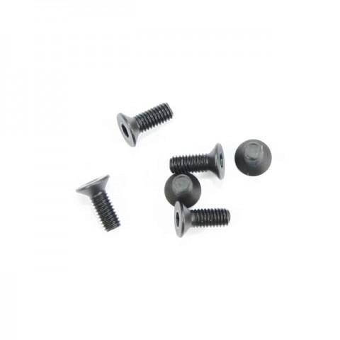 FTX Flat Head M3x8mm Hex Screw (6 Screws) - FTX6535