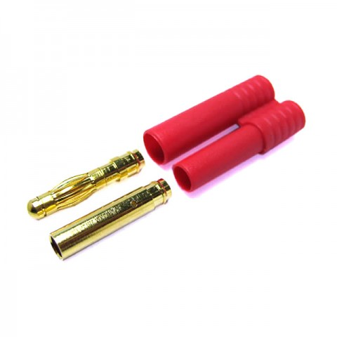 Etronix 4.0mm Gold Connector with Housing - ET0604
