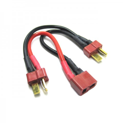 Etronix Deans 2S Battery Harness for 2 Packs in Series 14AWG Silicone Wire - ET0707