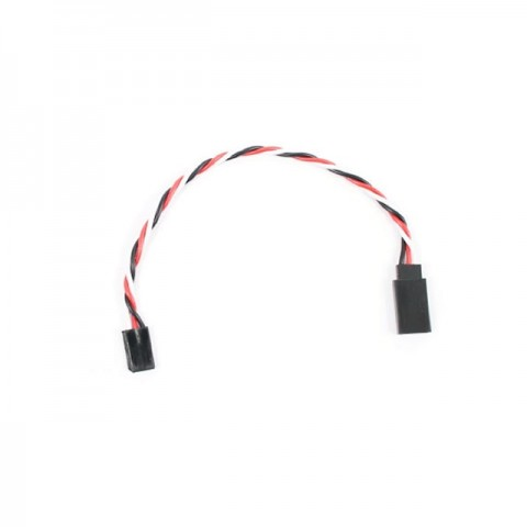 Etronix 22AWG 15cm Twisted Servo Extension Wire Lead with Futaba Connector - ET0733