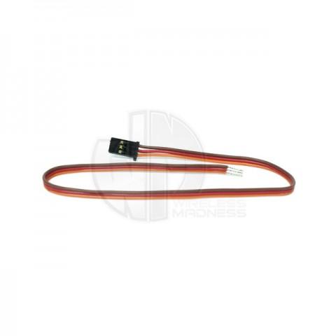 Logic RC JR/Spektrum Type Heavy Duty Servo Lead with Gold Plated Connectors (300mm) - JRSL0300