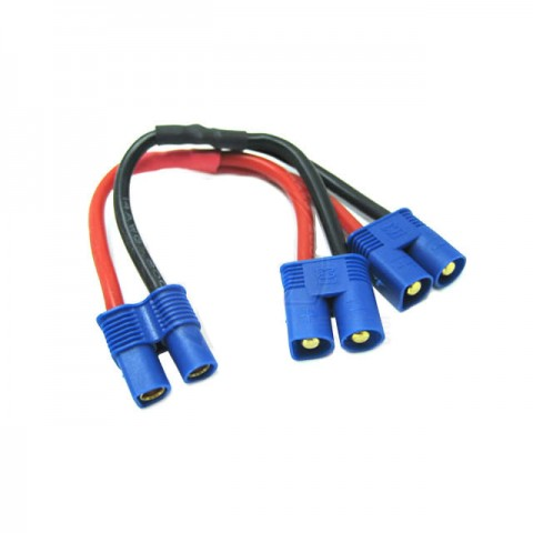 Etronix Battery Harness for 2 Packs in Parallel Adaptor with EC3 Connectors - ET0705