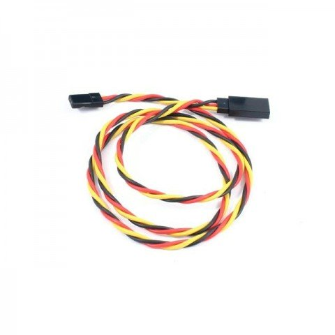 Etronix 22AWG 45cm Twisted Servo Extension Wire Lead with JR Connector - ET0736J