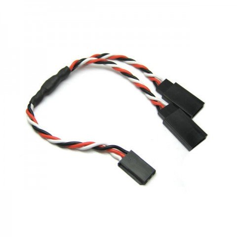 Etronix 22AWG 15cm Futaba Twisted Y Lead Extension Wire - ET0751