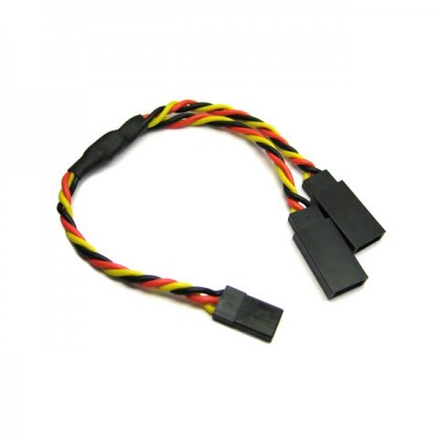 Etronix 22AWG 15cm JR Twisted Y Lead Extension Wire - ET0752