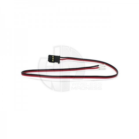 Logic RC Futaba Type Heavy Duty Servo Lead with Gold Plated Connectors (300mm) - FTSL0300
