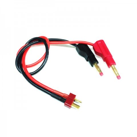 Logic RC Charger Lead 4mm Gold Banana Connectors to Deans Male Connector - LGL-CLDNS