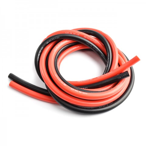 Radient Silicone Wire 10AWG 2ft/0.6m (Red/Black) - RDNAC010143
