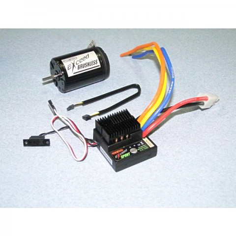 Fusion Exceed Sport 40A Brushless Speed Controller with 13.5T Sensored Motor Combo - FS-XC3135