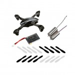 Hubsan X4L Quad Copter Crash Pack 4 Sets of Blades, Complete Canopy, 1 Battery and 2 Motors - H107-A37