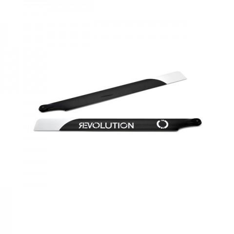Revolution 430mm Flybar 3D Carbon Fibre Main Rotor Blades - RVOB043000