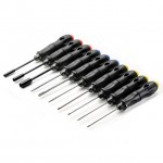 Absima High Performance 10 Piece Driver Tool Set with Carry Case - 3000057
