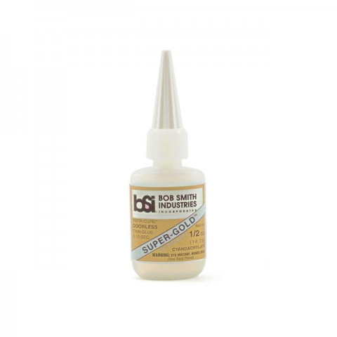 Bob Smith Industries Super-Gold Foam Safe 1/2oz Thin CA Glue - BSI121