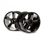 HPI Bullet MT Wheel in Black Chrome (Set of 2 Wheels) - 101309