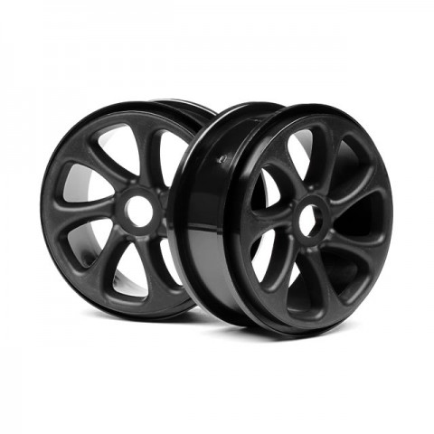 HPI Black Turbine 1/8 Buggy Wheel (Set of 2 Wheels) - 101371