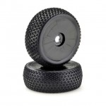 Absima 1/8 Black Buggy 17mm Hex Disc Wheel and Tyre Set (Pack of 2 Wheels) - 2520020