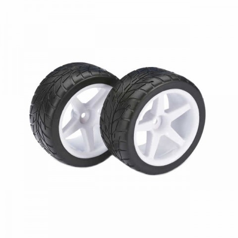 Absima 1/10 Buggy 5 Spoke Street 12mm Wheel and Tyre Set (Pack of 2 Rear Wheels) - ABS2500008
