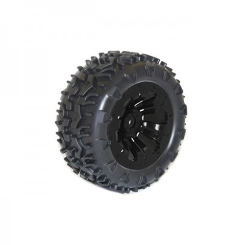 FTX Carnage 1/10 Mounted Wheels and Tyres 12mm Hex (Pack of 2 Black) - FTX6310B