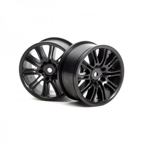 HPI 1/10 Scale 10 Spoke Black Motor Sport Wheel 26mm Wide (2 Wheels) - HP-3771