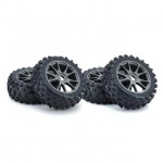 Kyosho 1/8 Buggy KC Tyres on Neo 3.0 17mm Hex Gun Metal Wheels (Set of 4) - IFTH004GMKC