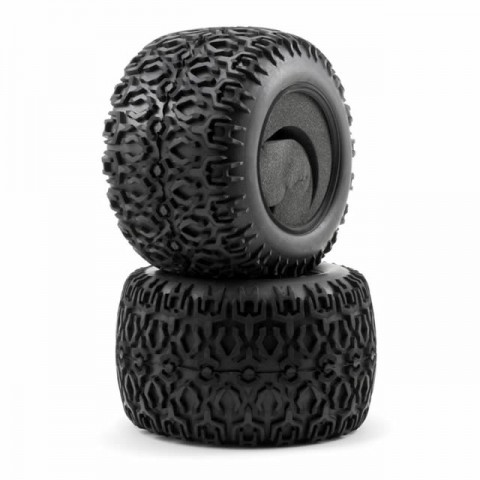 Losi 420 ATX Tyres with Foam Inserts for LST2 and XXL2 (Pack of 2 Tyres) - LOSB7202