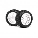 Maverick 1/10 Rear Buggy 12mm Hex Wheel with Tyre (Set of 2 Wheels) - MV22707
