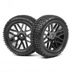 Maverick 1/10 Buggy 12mm Hex Wheel and Tyre Set (Pack of 2 Front) - MV22767
