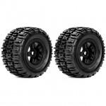 Roapex 1/8 RENEGADE Monster Truck Tyre on Black Wheels 17mm Hex (Pack of 2) - R4001B