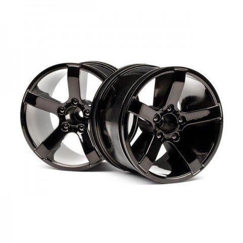 HPI Bullet MT Wheel in Black Chrome (Set of 2 Wheels) - 101309
