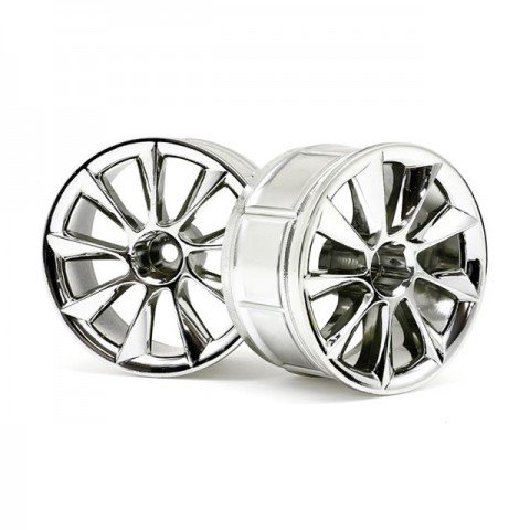 HPI 1/10 LP32 ATG RS8 Chrome Wheel with 12mm Hex (Pack of 2 Wheels) - 33463