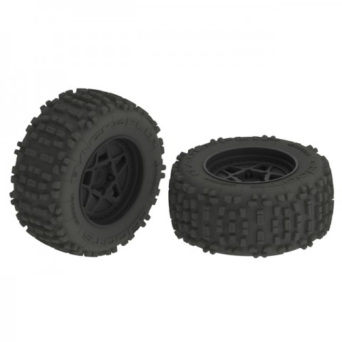 Arrma 1/8 dBoots Backflip Monster Truck 6S 2.8 Pre-Mounted wheels and Tyres 17mm Hex (Pack of 2) - AR510092