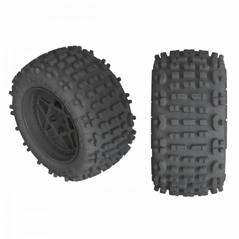 Arrma 1/10 dBoots Backflip LP 3.8 Pre-Mounted Wheels and Tyres 17mm Hex (Pack of 2) - AR550050