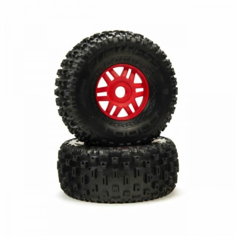 Arrma 1/8 dBoots Fortress 2.4/3.3 Pre-Mounted wheels and Tyres with 17mm Hex (Pack of 2) - ARA550065