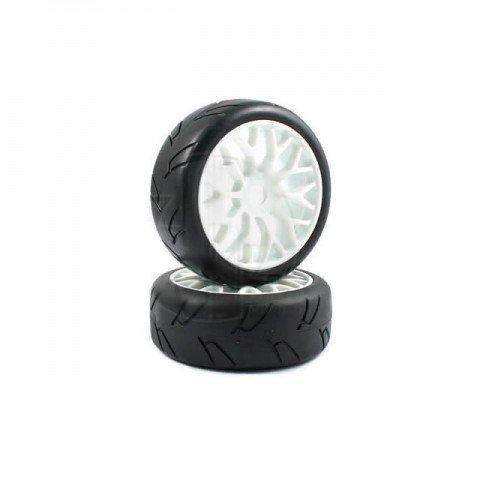 Fastrax Hawk 1/8th On-Road Pre-Mounted Slick Tyres on Y Spoke Wheel (2 Wheels) - FAST0017