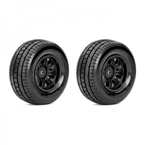 Roapex 1/10 TRIGGER Short Course Truck Tyre on Black Wheels 12mm Hex (Pack of 2) - R1001B