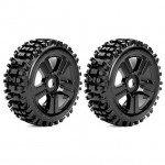 Roapex 1/8 RHYTHM Buggy Tyre on Black wheels 17mm Hex (Pack of 2) - R5002B