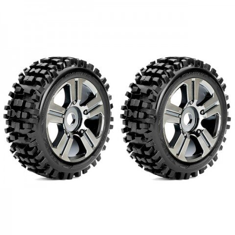 Roapex 1/8 RHYTHM Buggy Tyre on Chrome wheels 17mm Hex (Pack of 2) - R5002CB