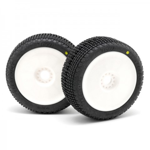 TPro Keylock Medium Soft (XR-T2) Pre-mounted 1/8th Buggy Tyres and Wheels - TP-3305-03-T2