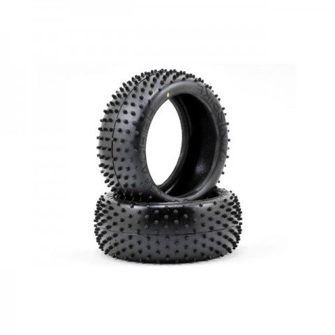 """Schumacher Mini Spike 1/8th Front or Rear 3.2"""" Buggy Racing Tyre Yellow (Pack of 2) - U6748"""
