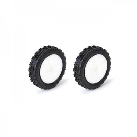 Schumacher 1/10 2WD Cut Stagger Front Slim Wheel and Tyres Yellow Bearing Fit (Pack of 2) - U6760