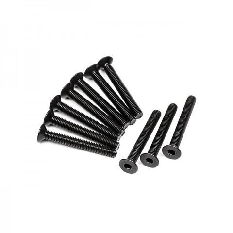 HPI Flat Head Screw M3x24mm with 2.0mm Hex Socket (10 Screws) - Z092