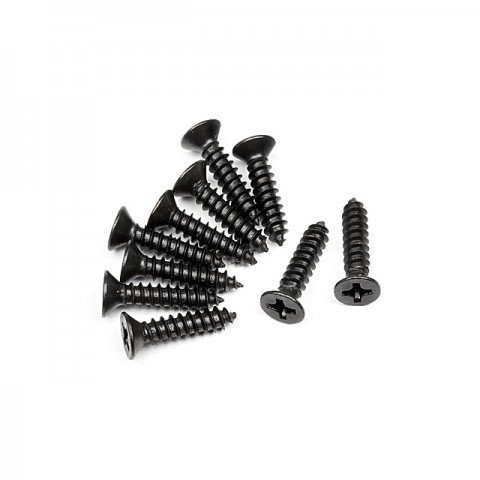 HPI TP Flat Head Screw M3x14mm (10 Screws) - 101245