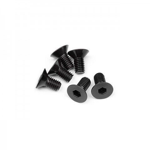 HPI Flat Head Screw M6x12mm with 4mm Hex Socket (Pack of 6 Screws) - 109919