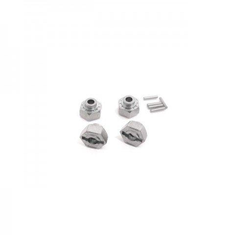 HPI Silver Hex Wheel Hub 12mm (Pack of 4 Hubs) - 86349