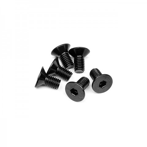 HPI Flat Head Screw M5x10mm with 3mm Hex Socket (Pack of 6 Screws) - 94727
