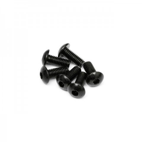 HPI Button Head Screw M5x12mm Hex Socket (Pack of 6 Screws) - 94754