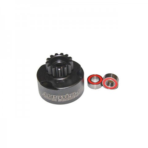 Answer RC 1/8th 14 Tooth Vented Clutch Bell with 5x10mm Bearings - ANSCBV214