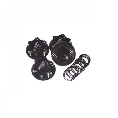 Answer RC Lightweight Black Locking Wheel Nut 1mm Thread (4 Nuts and 8 O-Rings) - ANSWN0100-B