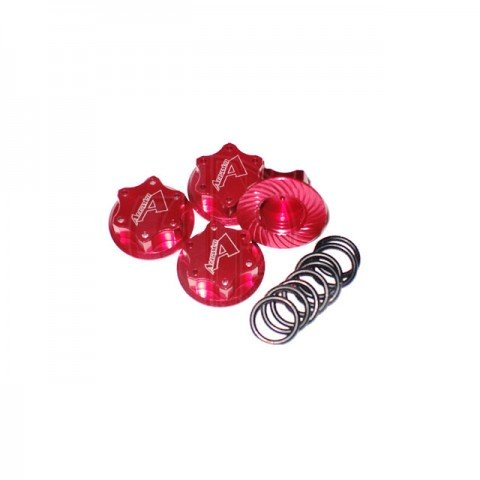 Answer RC Lightweight Red Locking Wheel Nut 1mm Thread (4 Nuts and 8 O-Rings) - ANSWN0100-R